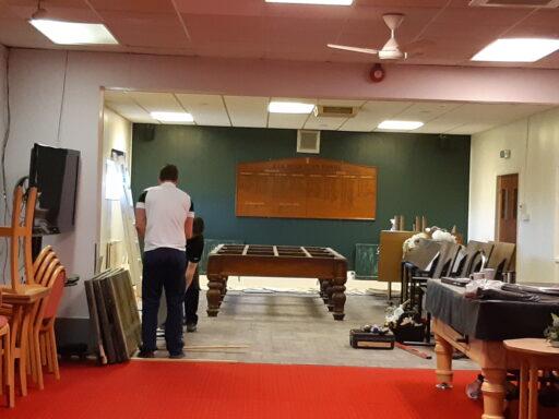 New snooker room taking shape