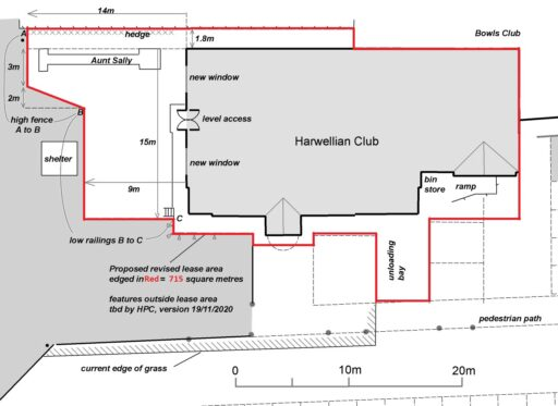 Proposed Club Garden layout